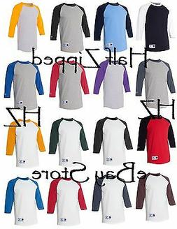 Champion Mens 3/4 Sleeve Raglan Baseball T-Shirt T137 S-3XL