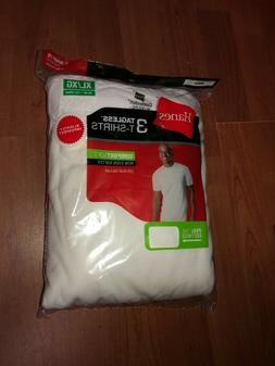 Hanes Mens 3 pack White T Shirt UnderShirt Crew Neck Size S-