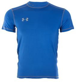 UNDER ARMOUR Mens Athletic T-Shirt SOLID ROYAL BLUE Semi Fit