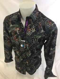 Mens CAVIAR DREMES B REY Designer Shirt Woven BLACK Abstract