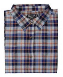 Men's Big And Tall Casual Country Long Sleeve Plaid Shirt