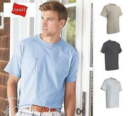 Hanes Mens Blank Short Sleeve Cotton Beefy T Shirt with a Po