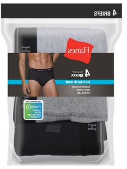 Mens Brief Underwear 4-Pack by Hanes ~ K312HUCB