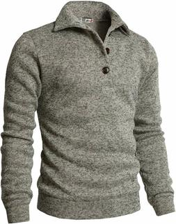 H2H Mens Casual Slim Fit Pullover Sweatshirts Knitted T-Shir