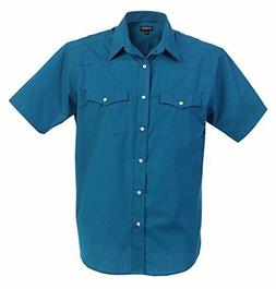 Gioberti Mens Casual Western Solid Short Sleeve Shirt With P
