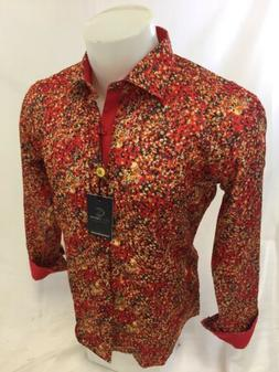 Mens SUSLO COUTURE Designer Shirt Woven SLIM FIT MULTI COLOR
