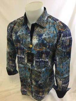 Mens SUSLO COUTURE Designer Shirt Woven Sport MULTI COLOR SL
