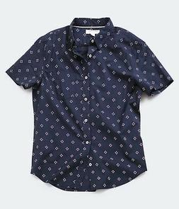 aeropostale mens diamond-pattern button-down shirt