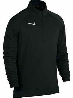 Nike Mens Dri-Fit Long Sleeve Quarter Zip Fleece Shirt Black