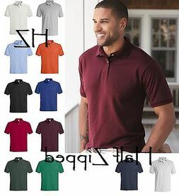Hanes Mens Ecosmart Jersey Polo Sport Golf Shirt 054X 2XL 3X
