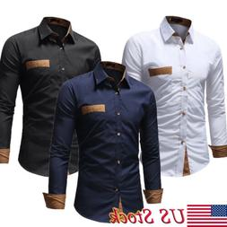 Mens Formal Shirt Men Striped Dress Designer Casual Luxury S