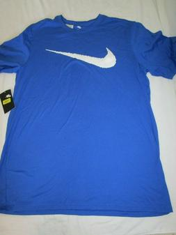 MENS NIKE HANGTAG 100% COTTON BLUE T-SHIRT SWOOSH LOGO 70745