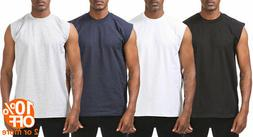 Mens Heavyweight Sleeveless Muscle T-Shirt Tank Top Active G
