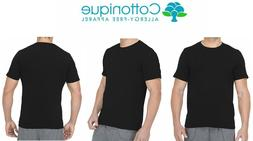 Cottonique Mens Hypoallergenic T-Shirt Made Latex Free 100%