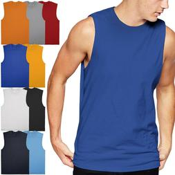 Mens Basic Sleeveleless Cotton Muscle Gym Tank Top