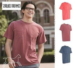 Comfort Colors Mens Garment Dyed Short Sleeve Shirt with a P