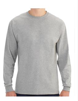 Mens Fruit of the Loom Platinum EverSoft Long Sleeve Crew T-
