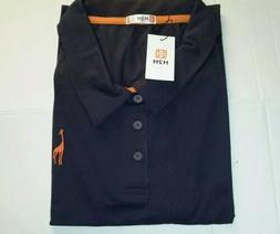 H2H Mens Polo Shirt Size 2XL XXL Casual Solid Giraffe Dark N