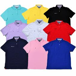 Tommy Hilfiger Mens Polo Shirt Solid Classic Fit Interlock T