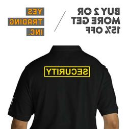 MENS SECURITY POLO SHIRT LAW ENFORMENT POLICE SHIRTS SAFETY