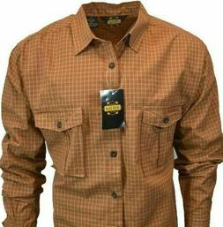 Guide Gear Mens Shirt Long Sleeve Button 100% Cotton Cowboy