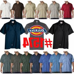Dickies Mens Short Sleeve Work Uniform Button Up Casual Shir