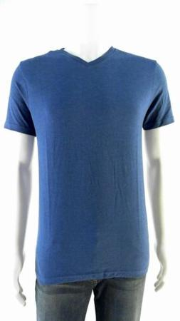 Mossimo Mens size S V-Neck Basic T-Shirt Tee Glacier Blue Co