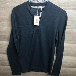 H2H Mens Size Small Henley Thermal Shirt Long Sleeve NEW