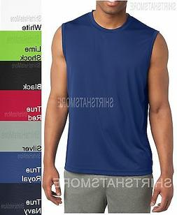 Mens Sleeveless Muscle T-Shirt Shooter Tank Dri Fit Moisture