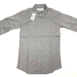 mens slim fit gray dress shirt new