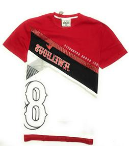 Jewel House Mens' T Shirt Red and White