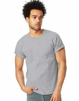 Hanes Mens T Shirt with Pocket Tagless Comfort Soft Tees Top