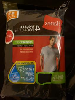 Hanes Mens Tagless t shirts 4-Pack Various Colors ComfortSof
