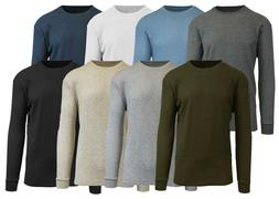 Mens Thermal Shirt Tee Long Sleeve Crew Waffle Lounge Warm L
