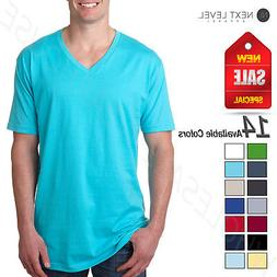 Next Level Mens Ultra Soft Premium Fit Short Sleeve V Neck T