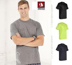 Bayside Mens Union Made Short Sleeve Cotton T Shirt with a P
