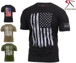 Mens US Flag Athletic T-Shirt Muscle Build Tactical Tee Amer