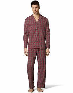 Hanes Mens Woven Pajamas Shirt Pants Set Lounge Sleepwear co