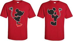 Mickey Minnie Kissing Cute Funny Matching Disney Couples T-S
