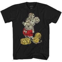 Disney Mickey Mouse Collage World Tee Funny Humor Adult Men'