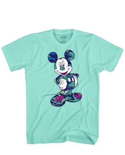 Disney Mickey Mouse Tropical World Tee Funny Humor Adult Men