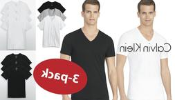 New 3 Pack SLIM FIT Calvin Klein Mens V Neck Crew Neck T Shi