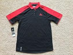 NEW ADIDAS Climalite MV Performance Golf Polo Shirt men Red