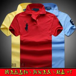 New Hot POLO Men's Casual Shirt Short Sleeve Shirts T-shirts