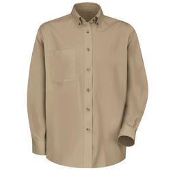 NEW Lee Khaki/Beige Long Sleeve Button Front Mens Shirt