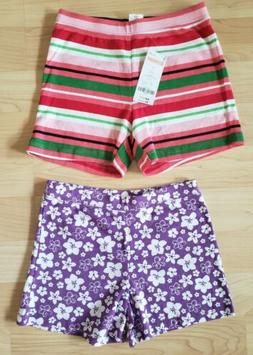 NEW lot of 2 pairs, girls size 7 Gymboree 100% cotton summer