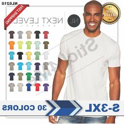 NEW MAN'S BLANK T-SHIRT Premium Fitted Cotton Shirt Next Lev