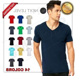 NEW MAN'S  V BLANK  T-SHIRT Premium Fitted V Neck Cotton Shi