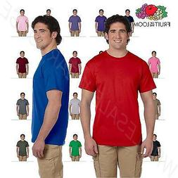 NEW Fruit of the Loom Men's 5 oz 100% Cotton HD S-3XL T-Shir