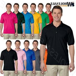 Gildan Mens Polo Shirt Moisture Wicking DryBlend Jersey S-XL